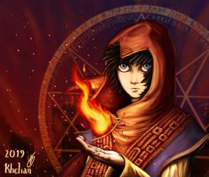 Asta - Pyral gaze by Khelian-Elfinde
