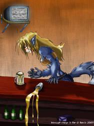 Werewolf Change in Bar- FINISH by Barrin84