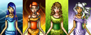 4 Elements - lineup by Alise-Art