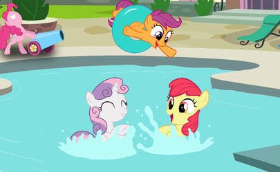 CMC at the pool by red4567-2