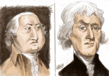 Founding Father Caricatures 2 by JoshMLange