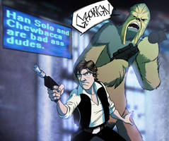 Han and Chewie... by PandaFace
