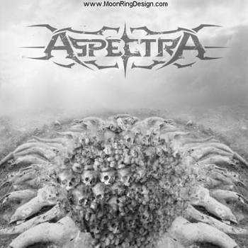 Aspectra-extreme-metal-norway-front-cd-album-cover by MOONRINGDESIGN