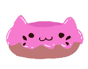 jelly donut cat sticker by The-unknow-6470