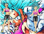 Wallpaper Son Bra SSGSS lvl1 and 2 v.1 by Yclan