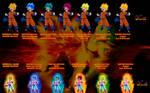 Pan Super Saiyan Colors Palette v.1 by Yclan