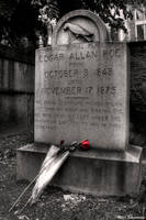 Edgar Allan Poe Original Grave by Bulephotography