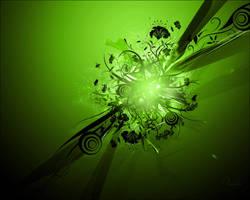 Vector-C4D Wallpaper green by Tamilia