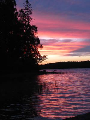 Swedish lake evening 1 by bormolino