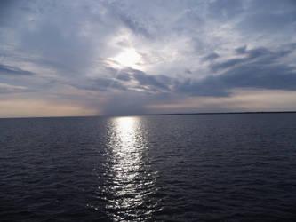 Northsea sunset from ship by bormolino
