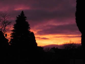 Christmas sunset by bormolino