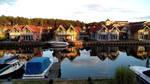 Rheinsberg harbour town by bormolino
