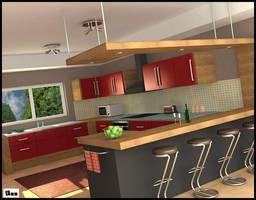 Kitchen interior by akdesignstudios