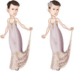 Matt Smith in a Pretty Dress by batty-mcbats