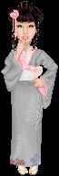 Yukata girl by batty-mcbats