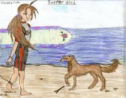 Surfer Girl by FreshwaterMermaid