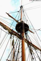 Square-Rigg'd Ship by FreshwaterMermaid