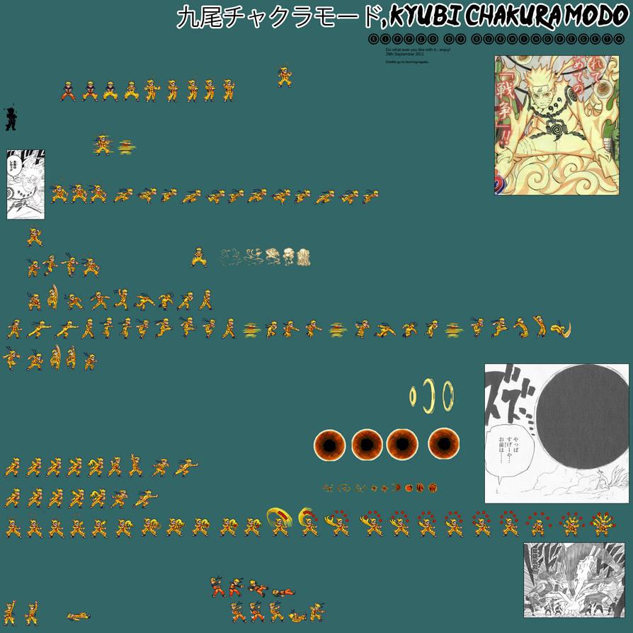 naruto nine tails chakra mode edit i by burningvegeta on deviantart