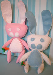 Pinky Wabbit and Blue Boy by frostedflake8