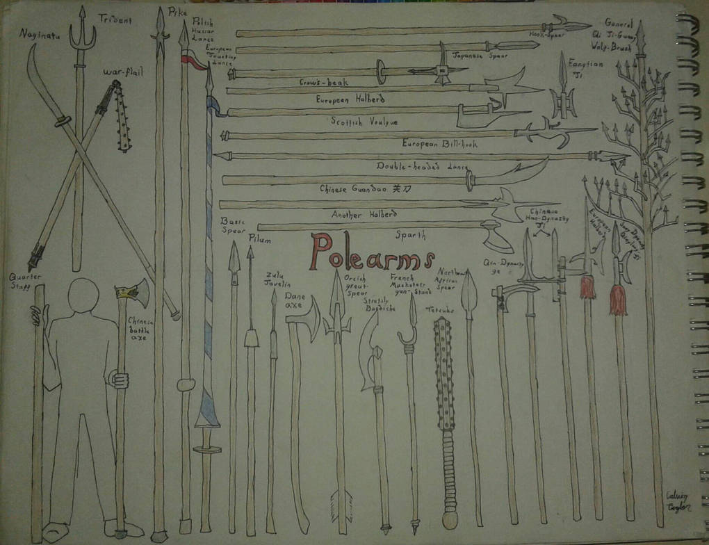 Various Pole-Arms by CalvinTaylor