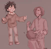 more of hp au by bibmob