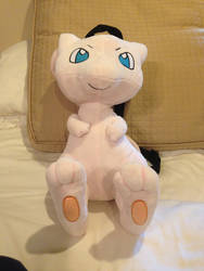Mew Carry-on Plush Doll by Anthro-animals-rule