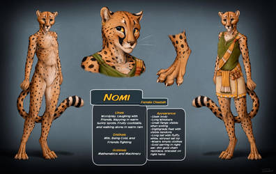 Nomi Ref Sheet by TitusWeiss