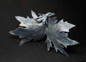 Silver  leaf fairy  Dragon by kessan