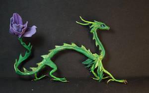 Violin flower Spirit dragon doll by kessan
