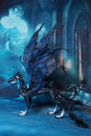 Corax Skydancer fanart from Flightrising by kessan