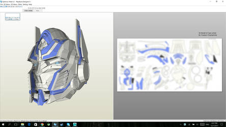 Optimus Prime AOE/TLK Helmet Pepakura by oucd45