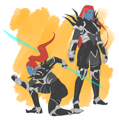 Undyne the Undying by coffeelemental