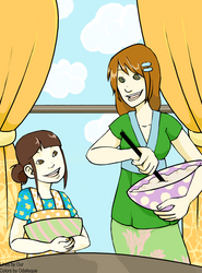 Kumiko and Alice by modernyaki