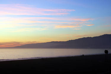 santa monica at sunset by smackmeister