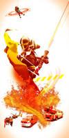 Sapeurs-pompiers du Rhone by vincemuss