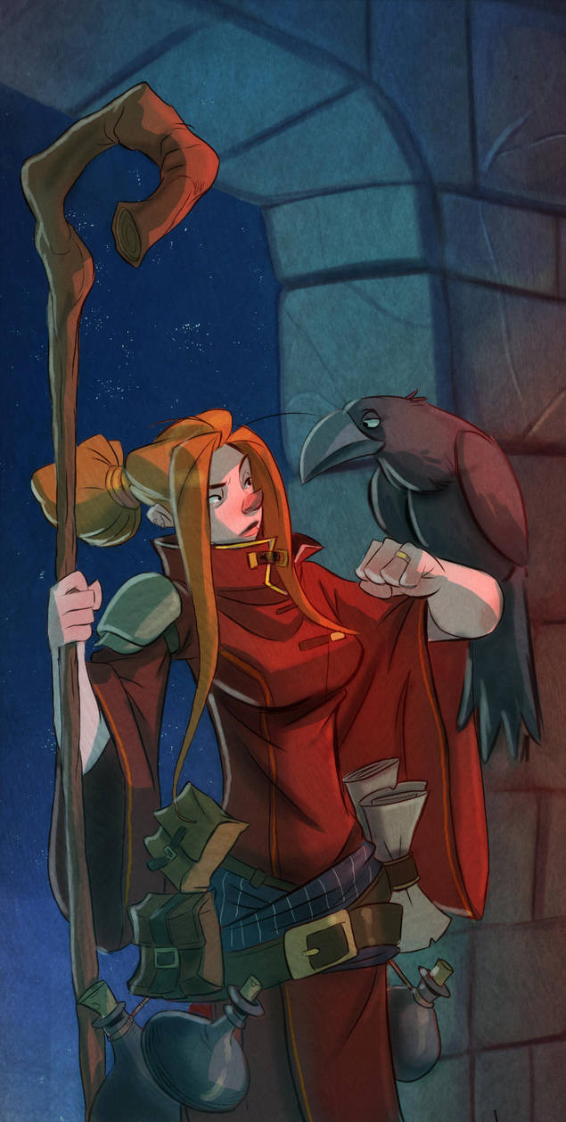 Mage And Raven by Tadsart
