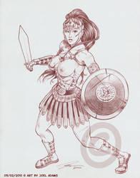 03-02-2010 - Gladiatrix by lilzart