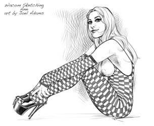 Wacom Sketching 01.04.12 Ann by lilzart