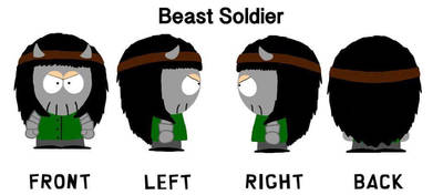 South Park OC - Diana The Beast Soldier by Chibipie-Kagane