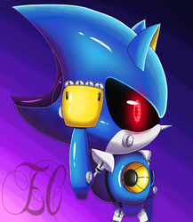 METAL SONIC by EnigmaClairvoyant