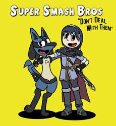Super Smash Bros X CupHead by LessienTheElf