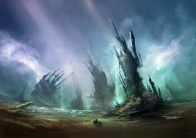 Concept Art: Landscape by Delun