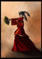 Red Geisha by Delun