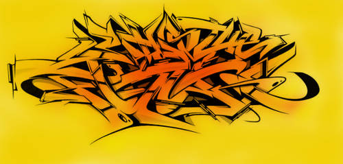 Digital Wildstyle Graffiti #01 by t-fux
