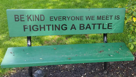 this bench speaks the truth by DJDrago9712