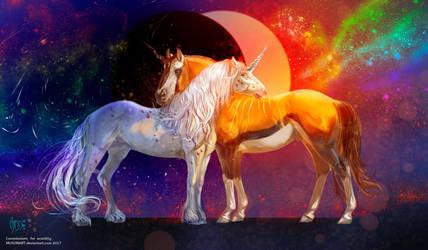 Rainbow eclipse by MUSONART