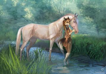 {Comm} Rahab and Hala by MUSONART