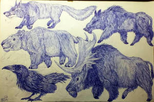 Future Beasts of the Northern Woods. by MickeyRayRex