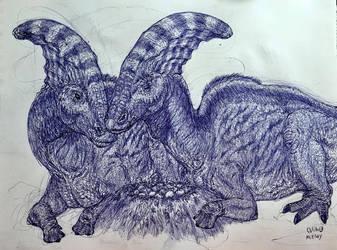 Parasaurolophus Pride by MickeyRayRex