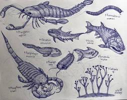Silurian Animals by MickeyRayRex